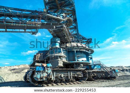 Mining machinery in the mine - stock photo