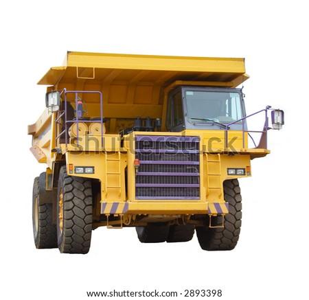 Mining truck isolated - stock photo
