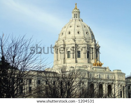 Minnesota State Capitol Building in Winter - stock photo