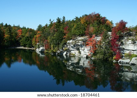 Minnewaska State Park, in upstate New York, part of the Shawangunk Mountain Regions - stock photo