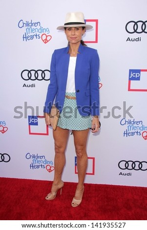 Minnie Driver at the 1st Annual Children Mending Hearts Style Sunday, Private Location, Beverly Hills, CA 06-09-13 - stock photo