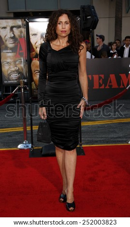 "Minnie Driver at the World Premiere of ""The A-Team"" held at the Grauman's Chinese Theater in Hollywood, California, United States on June 3, 2010. - stock photo"