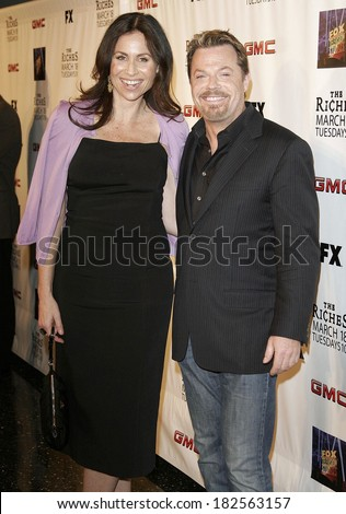 Minnie Driver, Eddie Izzard at THE RICHES Season Two Premiere Screening by FX Networks, Pacific Design Center, Los Angeles, CA, March 16, 2008 - stock photo