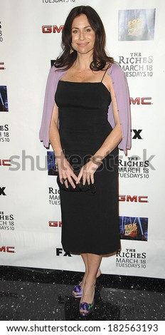 Minnie Driver, wearing Prada shoes, at Screening of FX Network's RICHES Season 2 Premiere, Pacific Design Center, Los Angeles, CA, March 16, 2008 - stock photo
