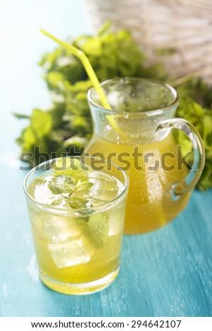 Mint lemonade - stock photo