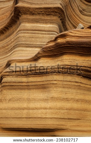 Miocene shallow-water limestones from Sao Nicolau island, Cape Verde (Cabo Verde), Africa - stock photo