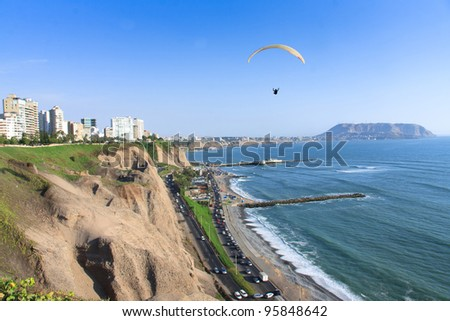 Miraflores Town landscapes in Lima peru - stock photo