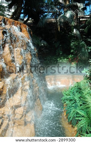 Mirage Misty Fountains - stock photo