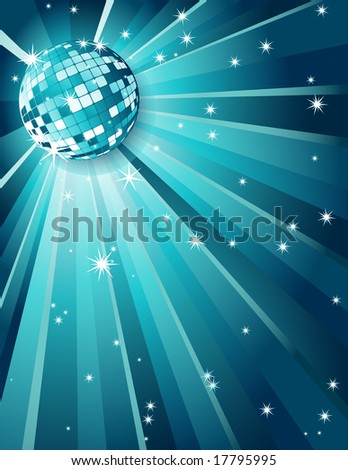 Mirror disco ball - stock photo