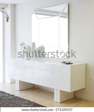 mirror furniture - stock photo