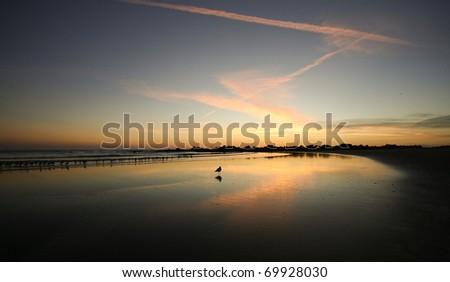 Mirror Image Sunset Reflections - stock photo