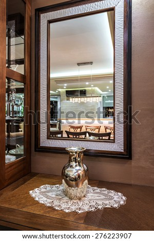 mirror in home interior - stock photo