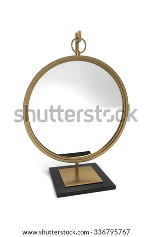 Mirror on Stand - stock photo