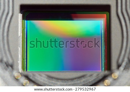 Mirrorless digital camera sensor - stock photo