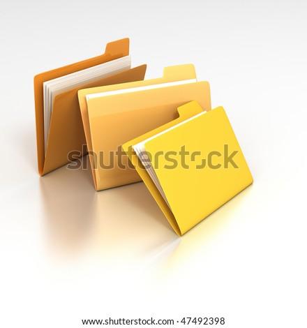 Miscellaneous Folders - stock photo