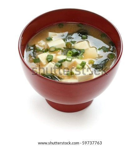 Miso soup ,  Japanese Food - stock photo