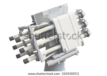 missile pod with white isolate.  - stock photo
