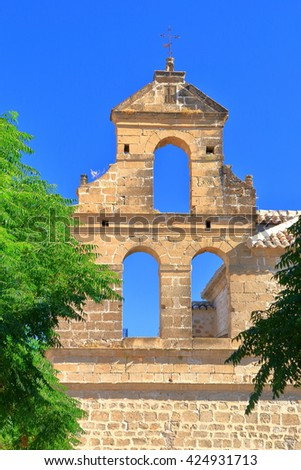 Missing bells from an old Broque building in Ubeda, Andalusia, Spain - stock photo