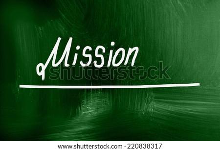mission concept - stock photo