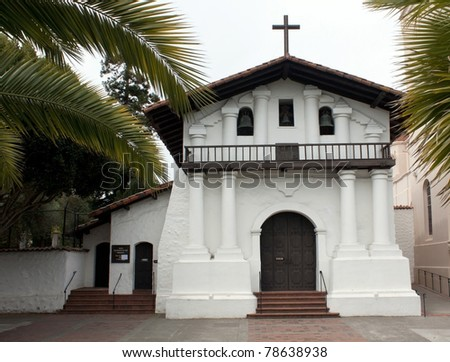 Mission Dolores, oldest surviving structure in San Francisco - stock photo