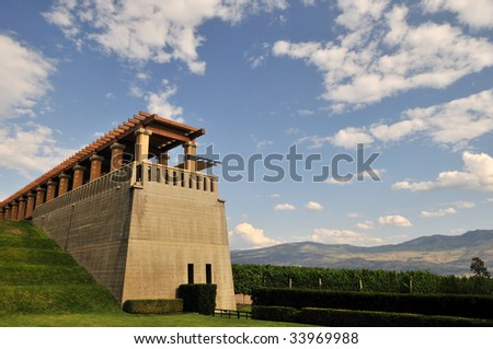 mission hill winery in Kelowna, BC - stock photo