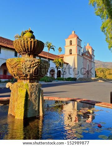Mission in Santa Barbara, USA - stock photo
