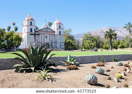 Mission Santa Barbara. - stock photo