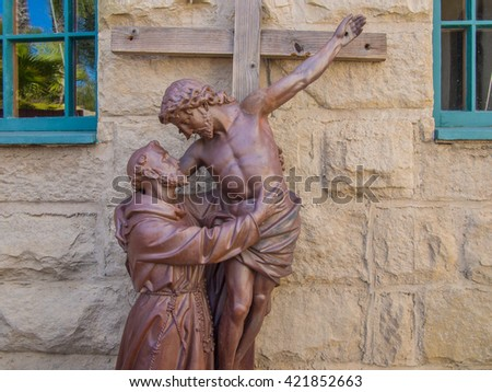 Mission Santa Barbara is a Spanish mission founded by the Franciscan order near present-day Santa Barbara, California. - stock photo