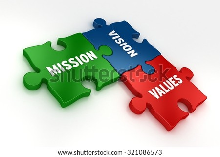 Mission Vision Values - stock photo