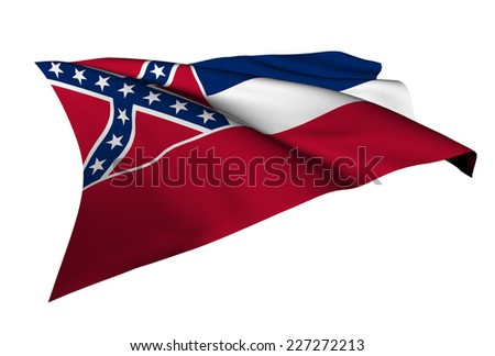 Mississippi flag - USA state flags collection no_4  - stock photo