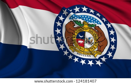 Missouri flag - USA state flags collection no_3 - stock photo