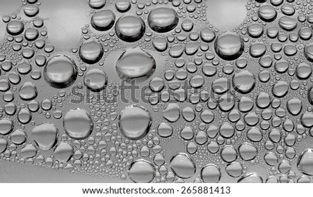 misted glass background, water droplets - stock photo