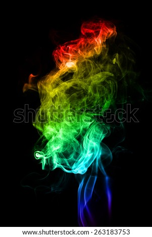 misty smoke on black background - stock photo