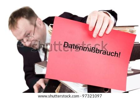 misuse of data - stock photo