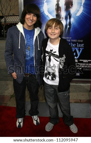 "Mitchel Musso and Marc Musso at the Los Angeles Premiere of ""The Last Mimzy"". Mann Village Theatre, Westwood, CA. 03-30-07 - stock photo"