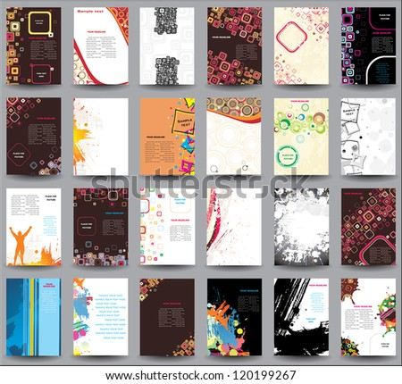 Mix collection Flyers. Raster version - stock photo