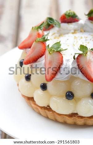 mix fruits cakes - stock photo