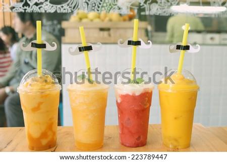 Mix juice - stock photo