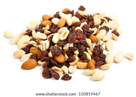Mix nuts. - stock photo