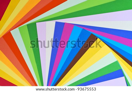 Mix of divers colour sheet - stock photo