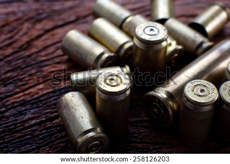 Mix of Empty Bullets / Rounds - stock photo