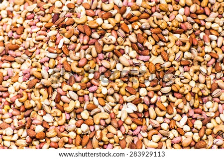 mix of nuts  - stock photo