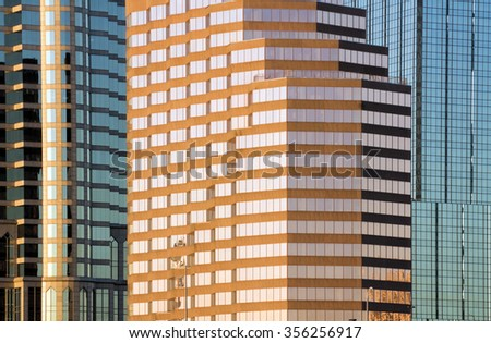 Mix of windows in Downtown of Tampa   - stock photo