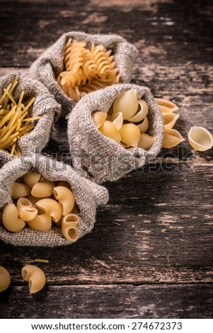 mix pasta - stock photo
