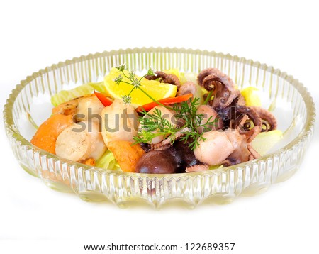 Mix seafood - stock photo