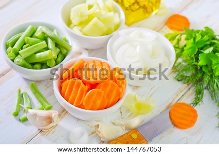 mix vegetables - stock photo