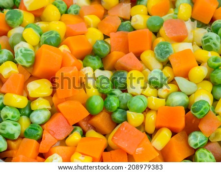 Mix vegetables background - stock photo