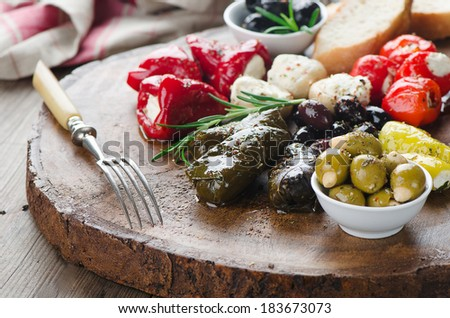 Mixed Antipasto - stock photo