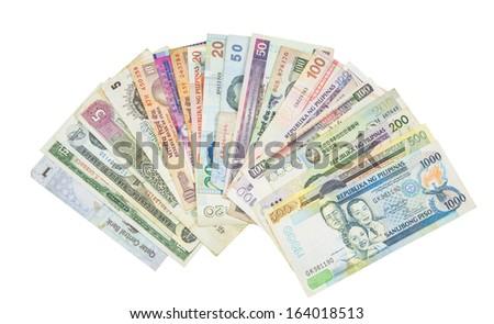 Mixed Bank Notes - stock photo