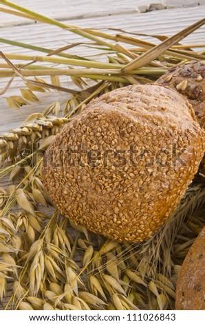 mixed bread - stock photo